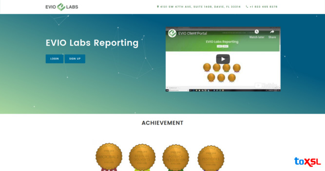 ToXSL Technologies: Delivered an Effective Website to EVIO LABS