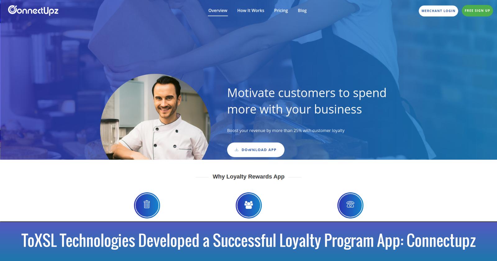ToXSL Technologies Developed a Successful Loyalty Program App 'Connectupz'
