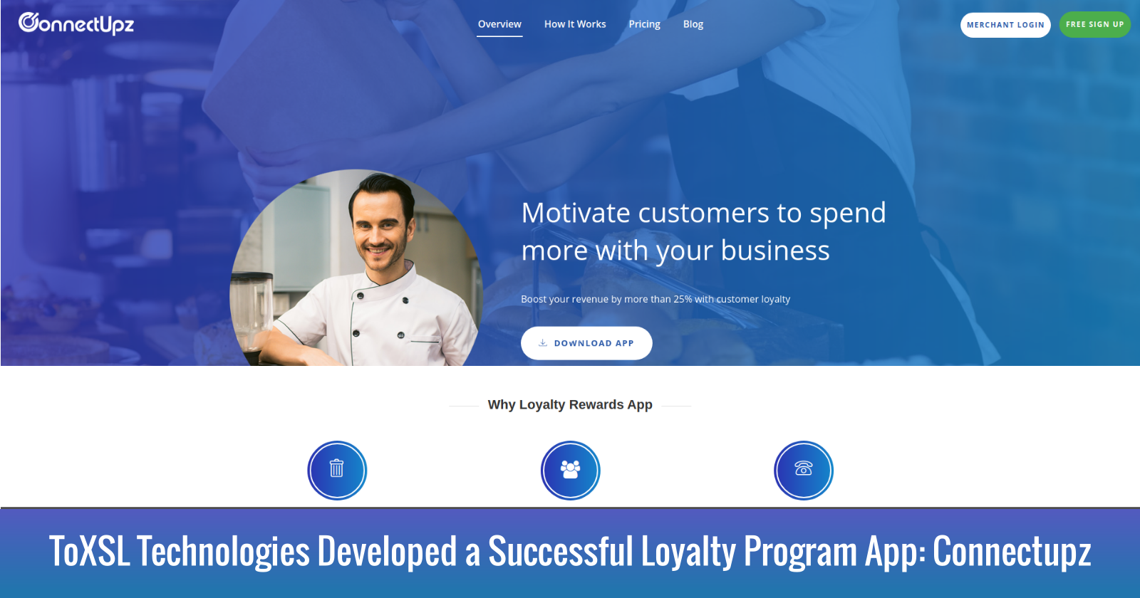ToXSL Technologies Developed a Successful Loyalty Program App 'Connectupz'