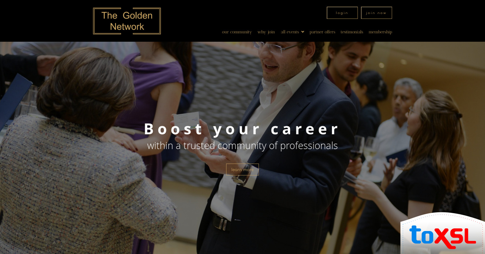 ToXSL Technologies Delivered the Website: The Golden Network