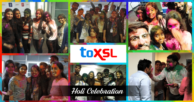 Holi Celebration at ToXSL Technologies